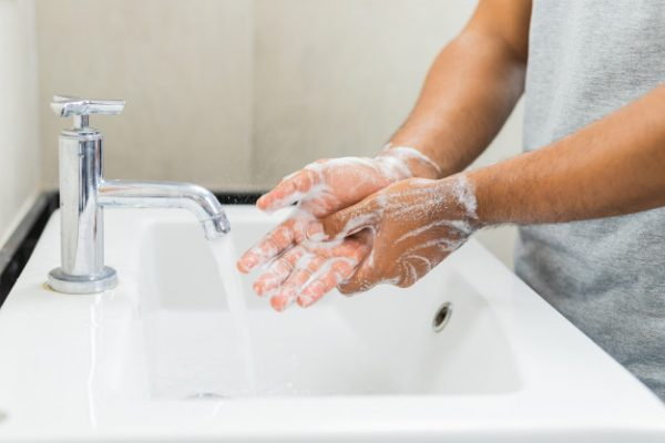 man washing hands with soap 108064 30